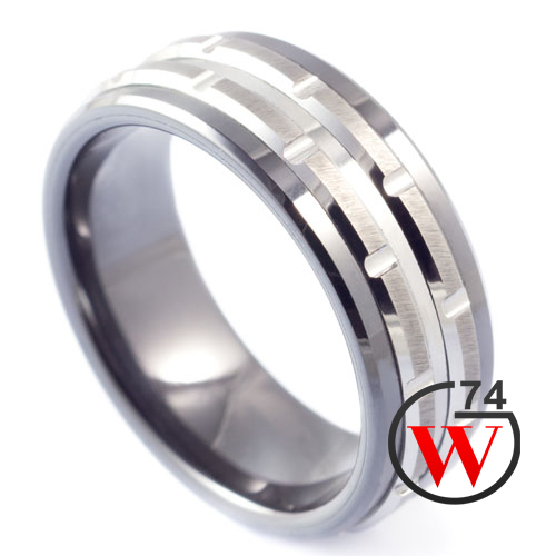 Black Tungsten Rings Clipper Rings Amp Bands By W74 Canada