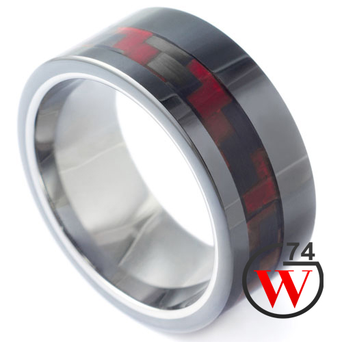 Tungsten rings firewalker rings bands by w74 canada for Kevlar wedding ring