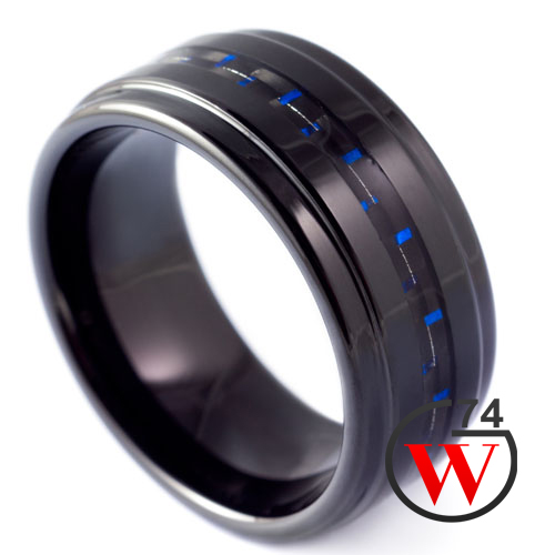 Black Tungsten Rings Nightshade Rings Amp Bands By W74 Canada