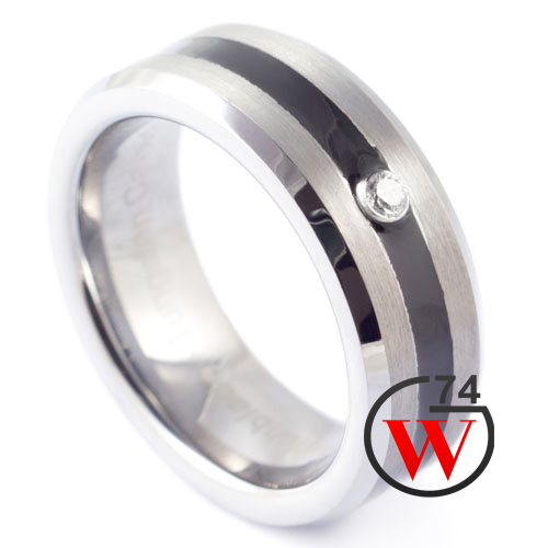Black Tungsten Rings Oracle Rings Amp Bands By W74 Canada