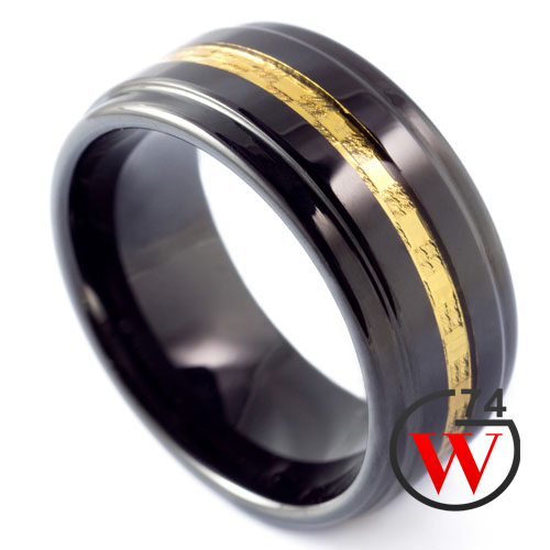Black Tungsten Rings Stardust Rings Amp Bands By W74 Canada