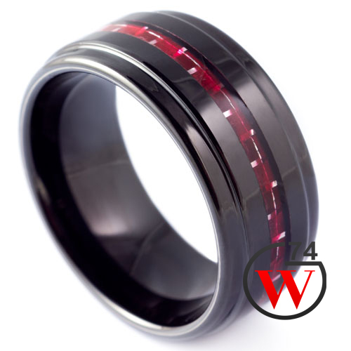 Black Tungsten Rings Tronica Rings Amp Bands By W74 Canada